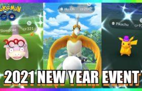 2021 NEW YEARS EVENT IN POKEMON GO! New Shiny Pikachu – Slowpoke & Shiny Ho-Oh Raids!