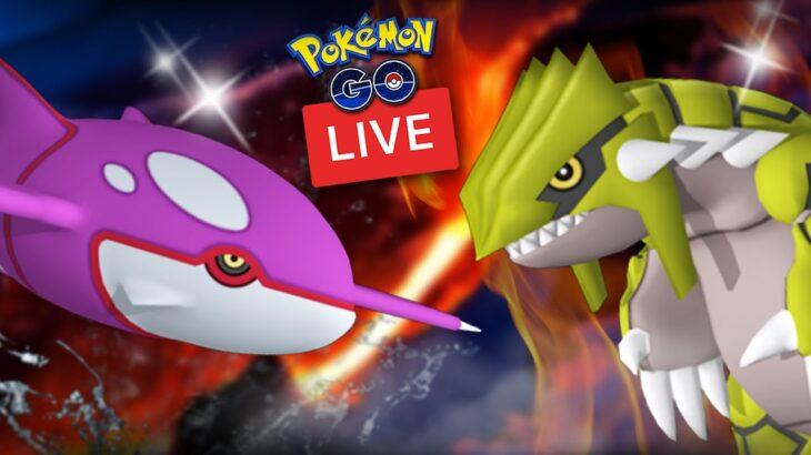 Back To Back Shiny Legendary Groudon + Kyogre (Raid Hour) – Pokemon Go