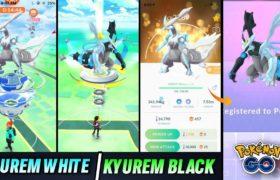 Kyurem white & kyurem black raids in Pokemon go | New legendary raids in Pokemon go 2021.
