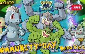 MACHOP COMMUNITY DAY SHINY POKEMON GO NEWS SHINYS EVENTS SINNOH | POKEGO LIVE DIA DA COMUNIDADE