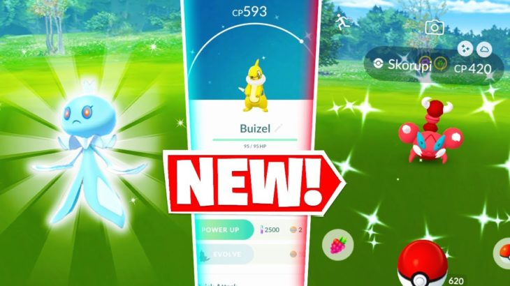 NEW SINNOH EVENT IN POKEMON GO! Shiny Buizel Release & How To Catch Frillish!