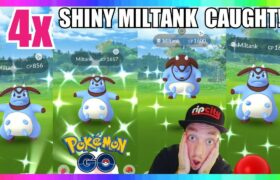 OMG! I CAUGHT 4x SHINY MILTANK on STREAM IN POKEMON GO! New Johto Event