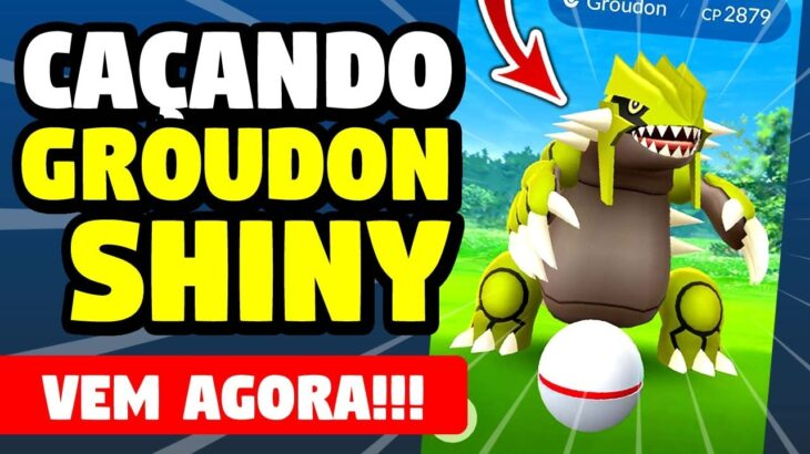 🔴 Pegando Groudon SHINY LENDARIO Pokemon Go! Passe GRATIS AGORA