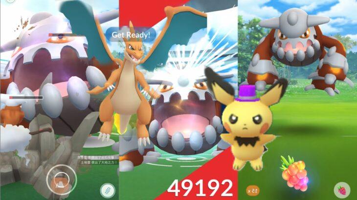 《Pokemon GO》席多藍恩回歸團體戰!Mega進化超級噴火龍Y!孵出派對帽皮丘!火箭隊武藏與小次郎!ヒードラン Heatran!