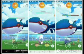 Pokemon Go-Kyogre(蓋歐卡) Raid Trio by 18 unique pokemons(No weather boost & Mega)(KO@23sec)19/1/21PVE1