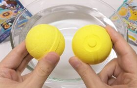 Pokemon vs Digimon Bath Bomb Battle ASMR Bath Bomb