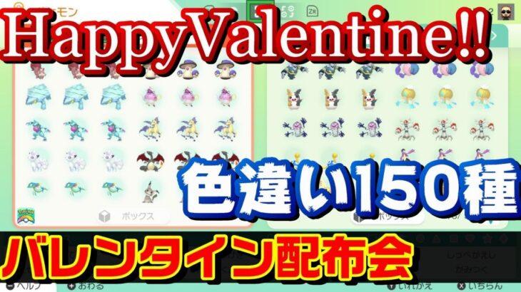 【ポケモン剣盾】バレンタイン色違いポケモン150種類くらい配布会 Shiny Pokemon present party【鎧の孤島】【冠の雪原】