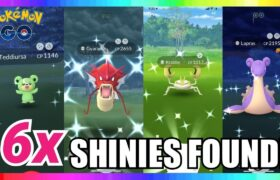 6x SHINIES FOUND IN POKEMON GO! Shiny Teddiursa – Krabby – Lapras & More!