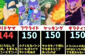 【最強タンク】圧倒的な体力を誇る、ポケモンの「HP」TOP20まとめ【比較動画】【ポケモン剣盾】