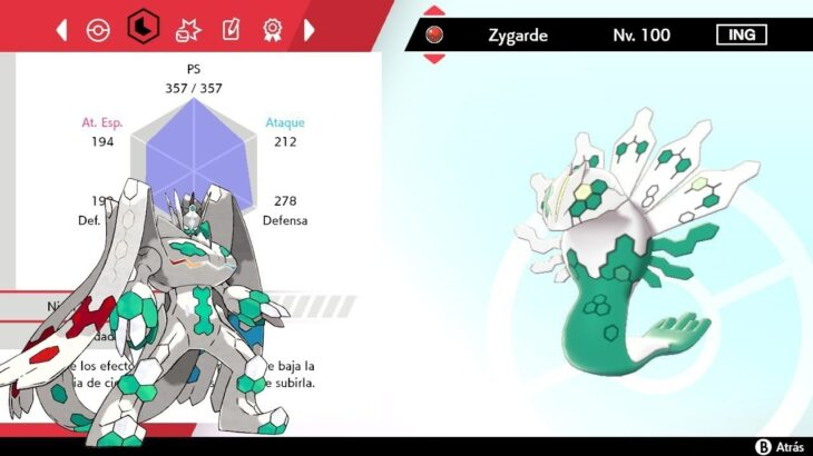 INTERCAMBIO ZYGARDE EVENTO 2016 RO/ZA para POKEMON ESPADA y ESCUDO INTERCAMBIOS SHINY