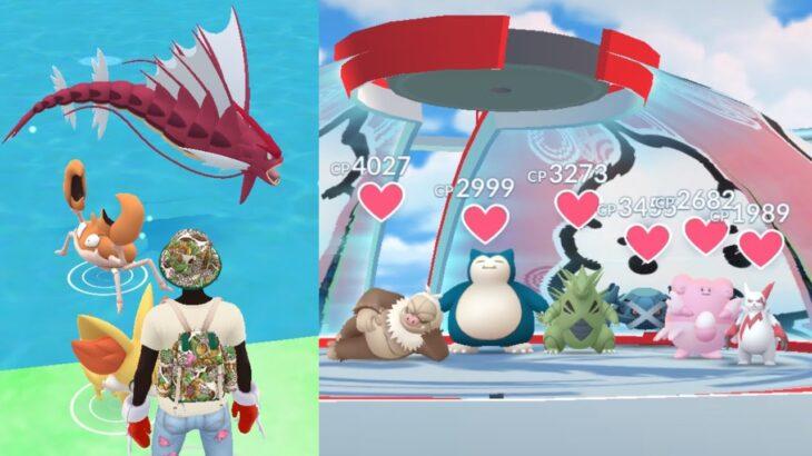 《Pokemon GO》1人攻下紅隊團體道館!Mega超級暴鯉龍!ギャラドス Mega Gyaradosu!
