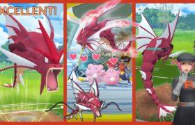《Pokemon GO》Mega色違超級暴鯉龍 對戰 Team GO Rocket火箭隊!ギャラドス Shiny Gyarados!