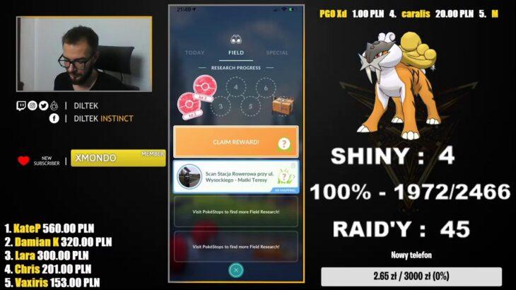 Raid Hour! Kolejna 100%! Shiny Raikou hunt! Pokemon GO