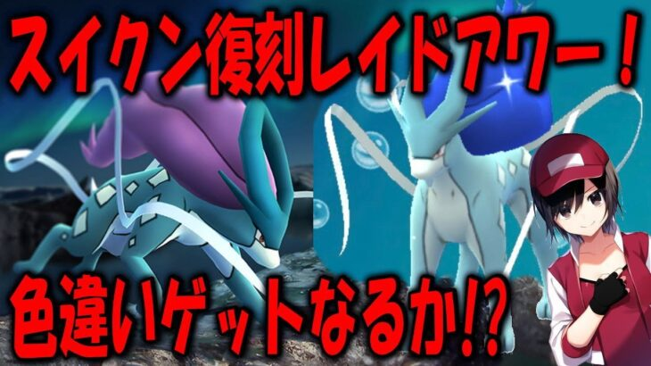 スイクン復刻レイドアワー!色違いゲットなるか!? Shiny Pokemon GO
