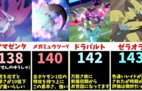 【神速】速すぎて見えない、ポケモンの「素早さ」TOP20まとめ【比較動画】【ポケモン剣盾】