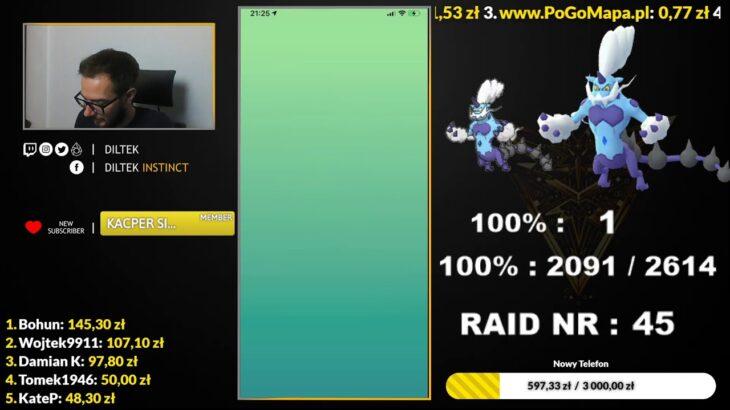 100%! Raid Hour! Therian Thundurus 100% hunt! Pokemon GO Poland