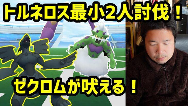 【ポケモンGO】トルネロス最小2人討伐チャレンジ、ゼクロムが吠える!