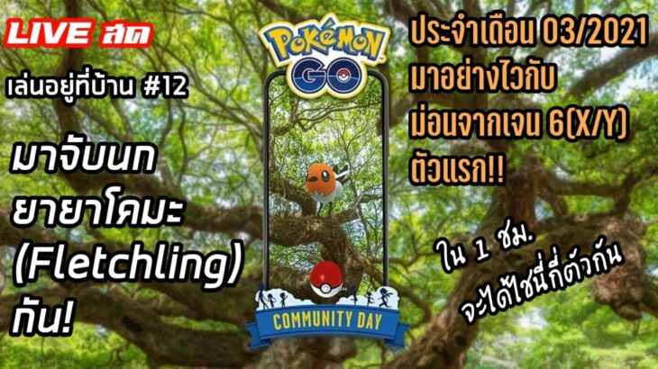 [live สด] เล่นอยู่ที่บ้าน #12 POKEMON GO COMMUNITY DAY มาจับ ยายาโคมะ(Fletchling ヤヤコマ) กัน!