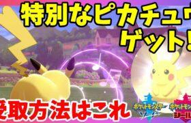 【ポケモンソードシールド】特別なピカチュウをゲット!うたうピカチュウ受取方法