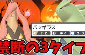 【ポケモン剣盾】格闘4倍を無効!? 禁断の3タイプ「ハロウィン型バンギラス」