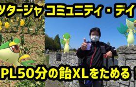 【ポケモンGO】PL50分の飴XLを貯めるぞ! ツタージャのコミュニティデイ