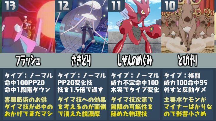 【比較】ポケモン廃人が厳選した『強すぎて削除された技ランキングTOP15』【剣盾】