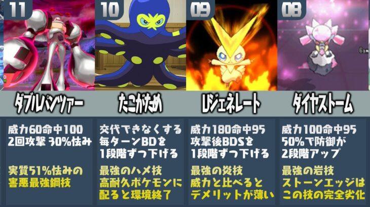 【比較】ポケモン廃人が厳選した『強すぎる専用技ランキングTOP20』【ポケモン剣盾】