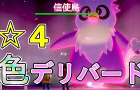 【色違いレイド】「☆4デリバード」【ポケモン剣盾】