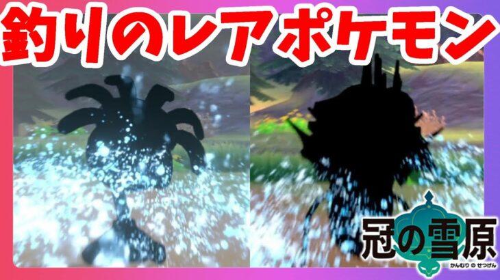 【ポケモンソードシールド】釣りのレアポケモンは怖かった!捕食する化石ポケモンを求めて!冠の雪原【エキスパンションパス】