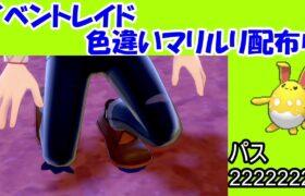 【ポケモン剣盾】今月のイベントレイドの色違いマリルリが出たので配布します!