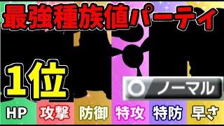 【ポケモン剣盾】各能力の1位を集めて最強のノーマル統一パーティを作ったぞ!!