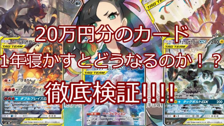 【ポケモンカード】ポケカ 20万円分のカード 1年寝かすとどうなるのか!?【検証】