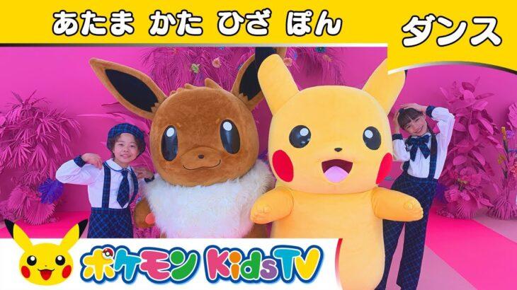 【ポケモン公式】ピカチュウ&イーブイとあたま かた ひざ ぽん  -ポケモン Kids TV