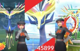 《Pokemon GO》好友的邀請!哲爾尼亞斯團體戰!使用遠絕團體戰入場劵!火箭隊的暗影寶可夢!ゼルネアス Xerneas!