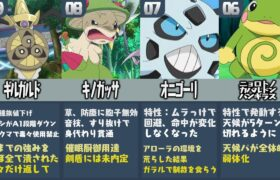 【比較】ポケモン廃人が厳選した『強すぎて弱体化されたポケモンランキングTOP10』