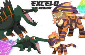 Complete Fakedex – Excelo Pokemon Region (Gen 9 Future Pokemon Evolutions)