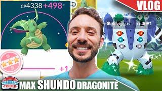 MAXING MY LEVEL 51 *SHUNDO DRAGONITE* – SHINY REGIGIGAS WINS!   Pokémon GO Vlog