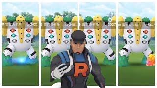 《Pokemon GO》我能連續抓到4隻雷吉奇卡斯?!Team GO Rocket火箭隊 克里夫 Cliff!レジギガスRegigigas!