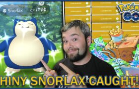 SHINY SNORLAX FINALLY CAUGHT AFTER OVER 400 ENCOUNTERS! (Pokemon GO)