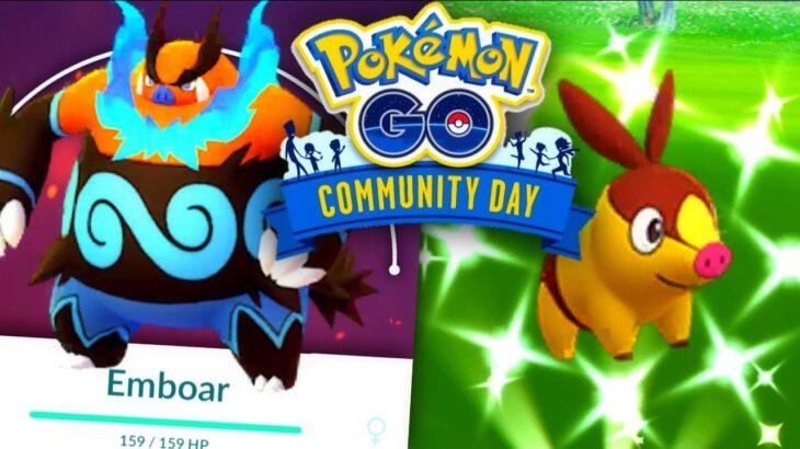 Shiny Tepig Community Day in Pokemon GO // x3 Catch Stardust // Is Blast Burn Emboar good?