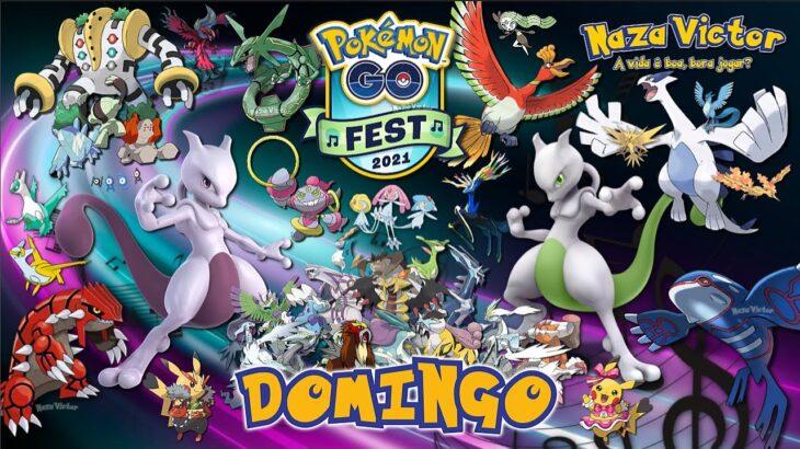 EVENTO POKEMON GO FEST 2021 2ª Dia Domingo RAIDs Todos LENDARIOS Shinys HOOPA MUITO +   GoFest LIVE