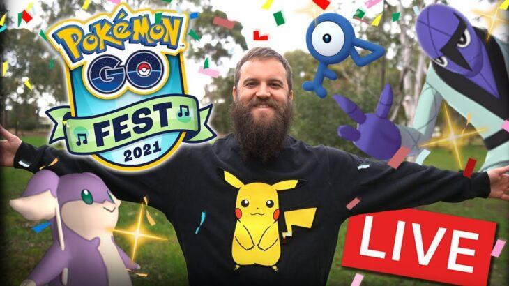 Pokemon GO Fest 2021 Day 1 Shiny Hunt Live