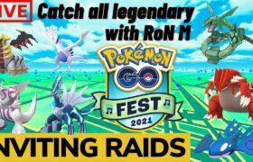 Pokemon Go Live ALL LEGENDARY Raids | Inviting raids | Go fest | No Trades | Indian Streamer !code