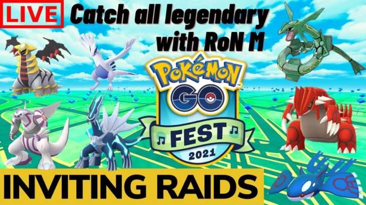 Pokemon Go Live ALL LEGENDARY Raids   Inviting raids   Go fest   No Trades   Indian Streamer !code