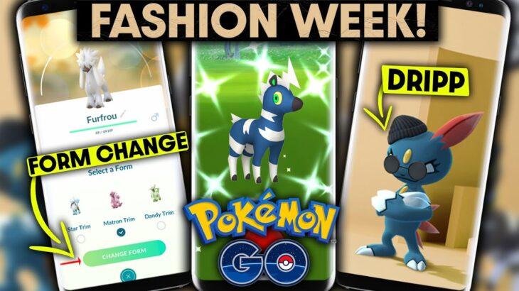 *FASHION WEEK* EVENT DETAILS in POKEMON GO | NEW POKEMON, FORM CHANGING & SHINY BLITZLE!