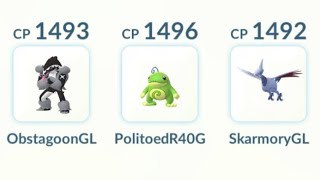 Obstagoon Politoed Skarmory   Pokémon GO Great League GBL   ポケモンGO グレートリーグ GOバトルリーグ   Liga Super
